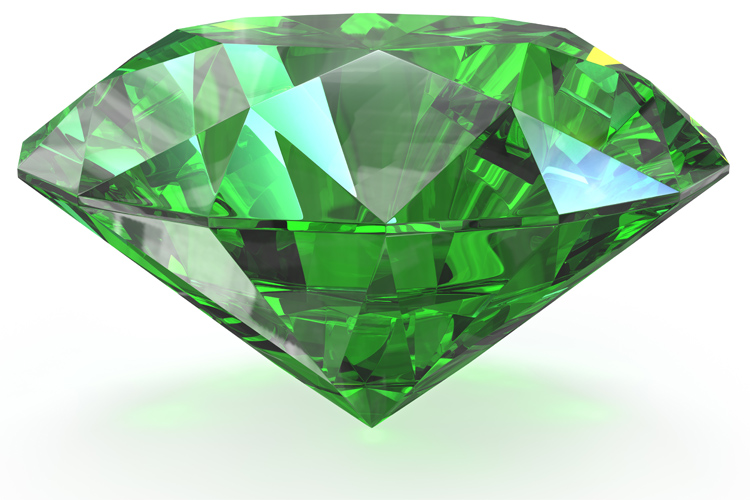 The Emerald: from the Greek 'smaragdos'