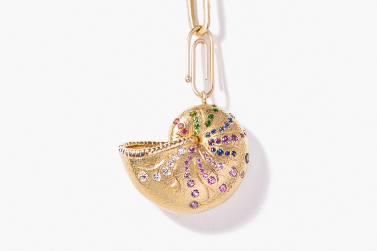 Jewelry: a nautilus pendant is a sophisticated take on summer