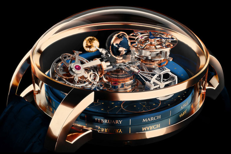 Astronomia Sky Celestial Panorama Gravitational Triple Axis Tourbillon: a remarkable timepiece | Photo: Jacob & Co.