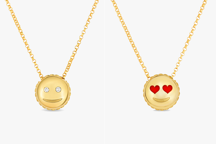 Tiny Treasures: an emoji pendants collection by Roberto Coin
