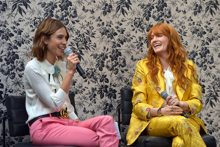Florence Welch, the new brand ambassador for Gucci watches and jewelry