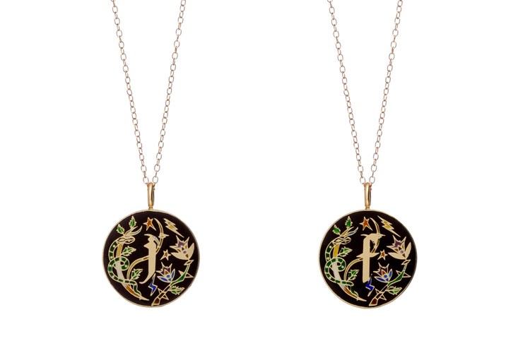 Jennifer Fisher: the 10 Year Anniversary Enamel Initial Pendant