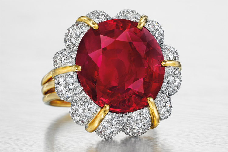 Jubilee Ruby: a 15.99-carat oval-shaped Burmese ruby