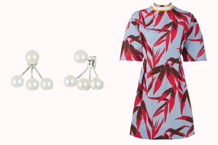 Tara Earrings | Marni Dress
