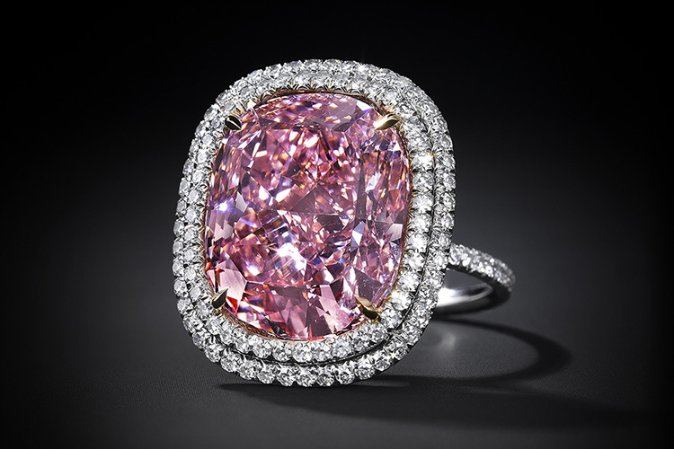 The Pink: a 16.08 carat cushion-shaped fancy pink diamond | Photo: Christie's