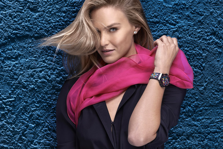 Bar Refaeli: embodying Hublot's Big Bang Broderie collection | Photo: Hublot