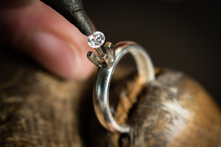Ring making: setting the gem in the bezel