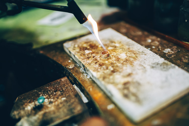 Soldering: a critical step in ring making