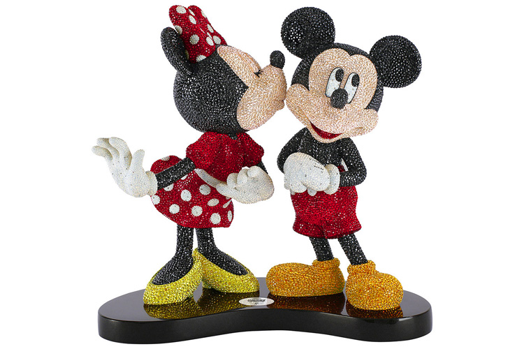 """Mickey & Minnie"" shine in 40,830 sparkling crystals, Victoria's Jewelry Box"